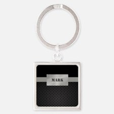 Faux Metal Nameplate Personalized Keychains