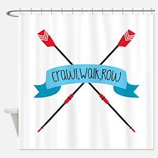 Crawl Walk Row Shower Curtain