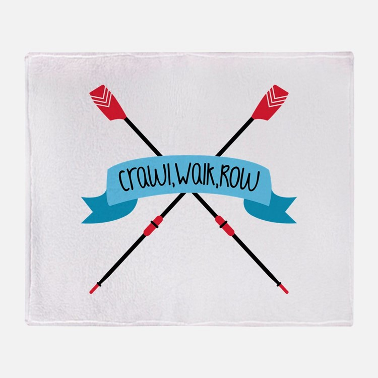 Crawl Walk Row Throw Blanket
