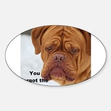 Dour Dogue Forgot Coffee?! Decal
