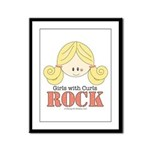 Girls with Curls Rock Framed Panel Print