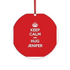 Hug Jenifer Ornament (Round)