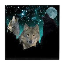 Wolves Twilight Tile Coaster