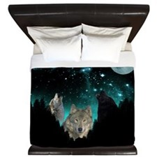 Wolves Twilight King Duvet