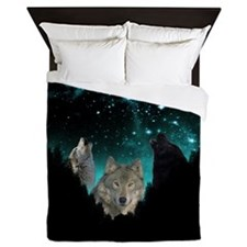 Wolves Twilight Queen Duvet