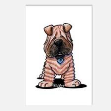 Shar Pei Caricature Postcards (Package of 8)