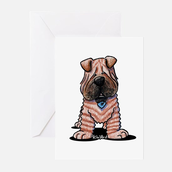 Shar Pei Caricature Greeting Cards (Pk of 10)