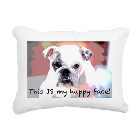This is my happy face! Rectangular Canvas Pillow