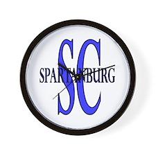 Spartanburg SC Wall Clock