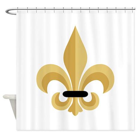 Fleur de lis shower curtain by hopscotch10 - Fleur de lis shower curtain hooks ...