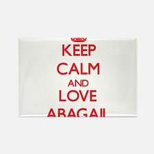 Keep Calm and Love Abagail Magnets