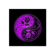 Purple Yin Yang Roses Sticker