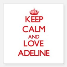 "Keep Calm and Love Adeline Square Car Magnet 3"" x"