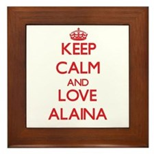 Keep Calm and Love Alaina Framed Tile