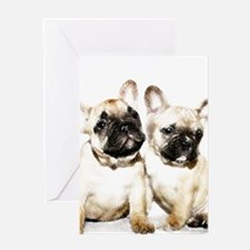 French Bulldogs Greeting Cards