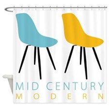 Mid Century Modern Chairs Shower Curtain
