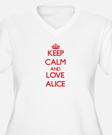 Keep Calm and Love Alice Plus Size T-Shirt