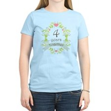 4th Anniversary flowers and T-Shirt