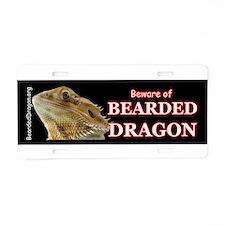 Cute Bearded dragon Aluminum License Plate