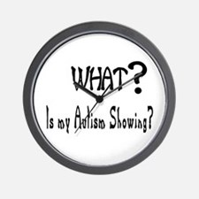 What~autism Showing.jpg Wall Clock