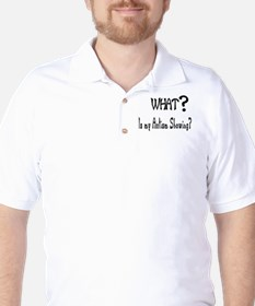 what~Autism showing.JPG Golf Shirt