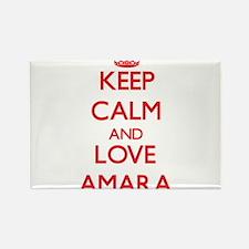 Keep Calm and Love Amara Magnets