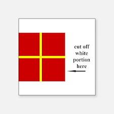 US Naval Flag Code Romeo Sticker