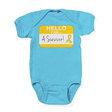 Childhood Cancer Survivor Baby Bodysuit