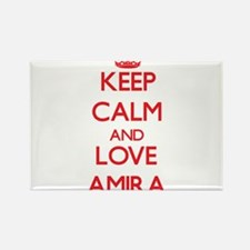 Keep Calm and Love Amira Magnets