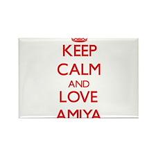Keep Calm and Love Amiya Magnets