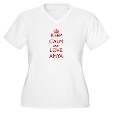 Keep Calm and Love Amya Plus Size T-Shirt