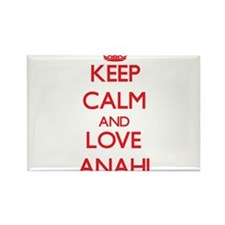 Keep Calm and Love Anahi Magnets
