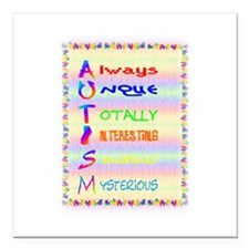 "meaning of autism 2.png Square Car Magnet 3"" x 3"""