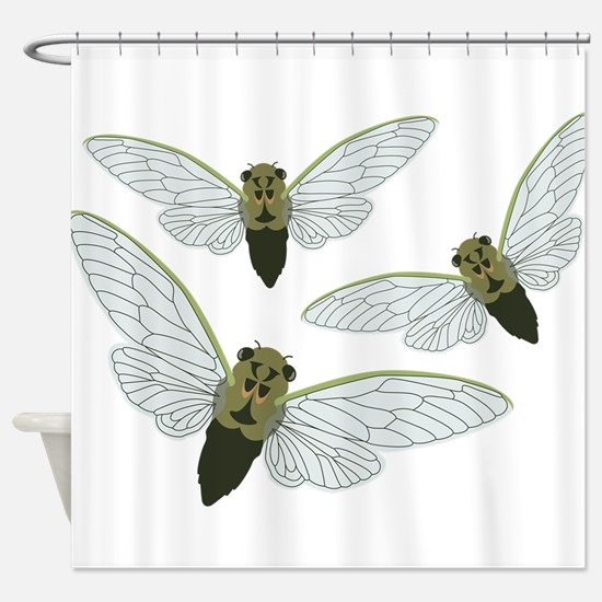 Three Cicadas Shower Curtain
