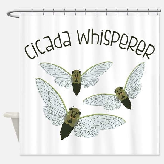 Cicada Whisperer Shower Curtain