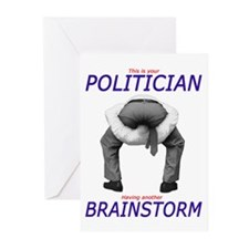 Politician's Brainstorm Greeting Cards (Pk of 10)