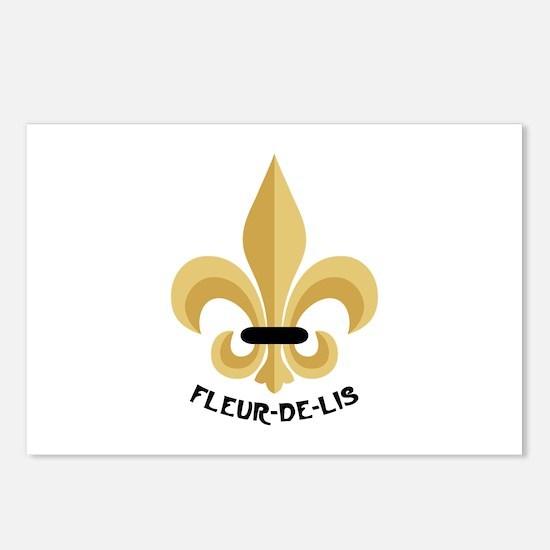 New Orleans Fleur De Lis Postcards (Package of 8)