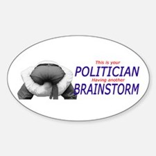 Politican's Brainstorm Oval Decal