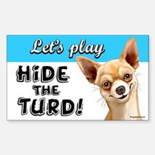 chihuahua turd Sticker (Rectangle)