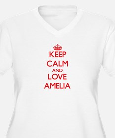 Keep Calm and Love Amelia Plus Size T-Shirt