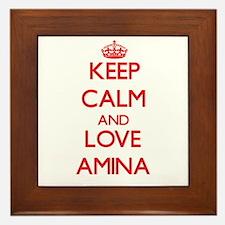 Keep Calm and Love Amina Framed Tile