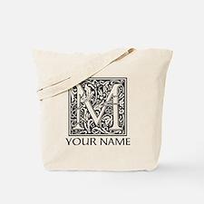 Custom Decorative Letter M Tote Bag