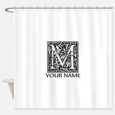 Custom Decorative Letter M Shower Curtain
