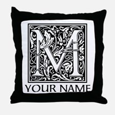 Custom Decorative Letter M Throw Pillow