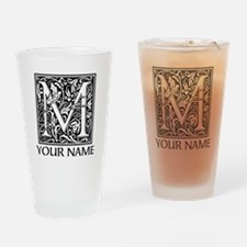Custom Decorative Letter M Drinking Glass