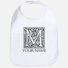 Custom Decorative Letter M Bib
