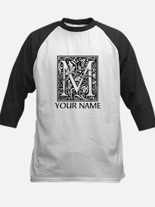 Custom Decorative Letter M Baseball Jersey