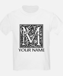 Custom Decorative Letter M T-Shirt