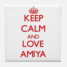 Keep Calm and Love Amiya Tile Coaster