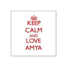 Keep Calm and Love Amya Sticker
